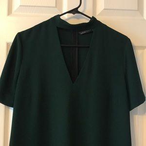 Hunter Green Choker Dress